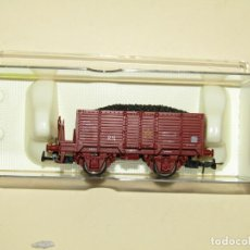 Trenes Escala: ANTIGUO VAGÓN BORDES ALTOS ELMO CON CARBÓN DE RENFE REF. 1910 ESCALA *H0* 1/87 DE ELECTROTREN. Lote 243221320