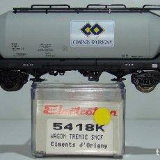 Comboios Escala: ELECTROTREN VAGON TOLVA CEMENTS D´ORIGNY DE LA SNCF REF:5416 ESCALA H0. Lote 245078960