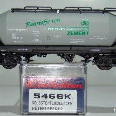 Trenes Escala: ELECTROTREN VAGON TOLVA CEMENTOS HEIDELBERGER DE LA DB REF:5466 ESCALA H0. Lote 245079695