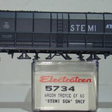 Comboios Escala: ELECTROTREN VAGON TOLVA CARBON STEMI SGW DE LA SNCF REF:5734 ESCALA H0. Lote 245081085
