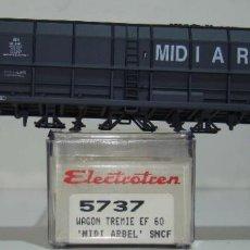 Comboios Escala: ELECTROTREN VAGON TOLVA CARBON MIDI ARBEL DE LA SNCF REF:5737 ESCALA H0. Lote 245081720