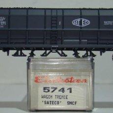 Comboios Escala: ELECTROTREN VAGON TOLVA CARBON SATECO DE LA SNCF REF:5741 ESCALA H0. Lote 245082090