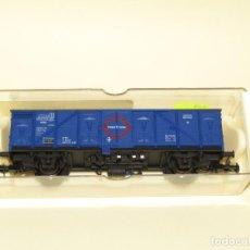 Trenes Escala: ANTIGUO VAGÓN CERRADO TRANSFESA REF. 1310K EN ESCALA *H0* 1/87 DE ELECTROTREN. Lote 245446960