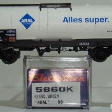Trenes Escala: ELECTROTREN VAGÓN CISTERNA DE LA DB ARAL REF. 5860 ESCALA H0. Lote 245909730
