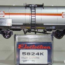 Trenes Escala: ELECTROTREN VAGÓN CISTERNA GRP DE LA FS REF. 5824 ESCALA H0. Lote 245909870