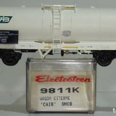 Trenes Escala: ELECTROTREN VAGÓN CISTERNA CAIB DE LA SNCB REF. 9811 ESCALA H0. Lote 245910045