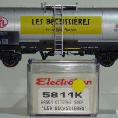 Trenes Escala: ELECTROTREN VAGÓN CISTERNA LES BECASSIERES DE LA SNCF REF. 5811 ESCALA H0. Lote 245910210