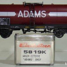 Trenes Escala: ELECTROTREN VAGÓN CISTERNA ADAMS DE LA SNCF REF. 5819 ESCALA H0. Lote 245910285