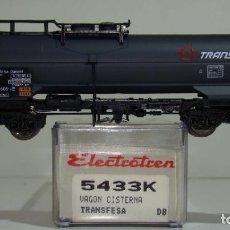 Trenes Escala: ELECTROTREN VAGÓN CISTERNA TRANSFESA DE LA DB REF. 5433 ESCALA H0. Lote 245910490