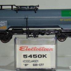 Trenes Escala: ELECTROTREN VAGÓN CISTERNA BP DE LA SBB-CFF REF. 5450 ESCALA H0. Lote 245910590