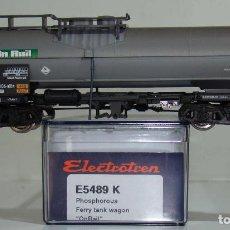 Trenes Escala: ELECTROTREN VAGÓN CISTERNA ON RAIL DE LA DB REF. 5489 ESCALA H0. Lote 245910700