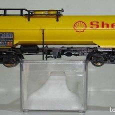 Trenes Escala: ELECTROTREN VAGÓN CISTERNA SHELL DE LA DB ESCALA H0. Lote 245910970