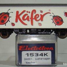 Trenes Escala: ELECTROTREN VAGÓN CERRADO KAFER DE LA DB REF: 1534 ESCALA H0. Lote 245911335