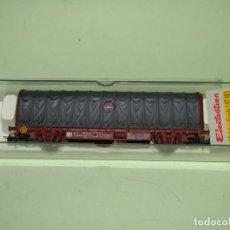 Trenes Escala: ANTIGUO VAGÓN TOLDO TRANSFESA LIS EN ESCALA *H0* REF 1435K DE ELECTROTREN. Lote 246159060