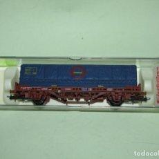 Trenes Escala: ANTIGUO VAGÓN CONTENEDOR TRANSFESA EN ESCALA *H0* REF 1441K DE ELECTROTREN. Lote 246159690