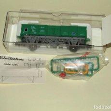 Trenes Escala: ANTIGUO VAGÓN ABIERTO ELOS CARGAS RENFE ÉPOCA 5 EN ESCALA *H0* REF. 1255 DE ELECTROTREN. Lote 246163655