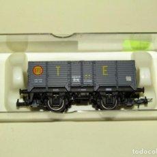 Trenes Escala: ANTIGUO VAGÓN BORDE ALTO X CON CARBÓN RENFE EN ESCALA *H0* REF. 1923 DE ELECTROTREN. Lote 246168200