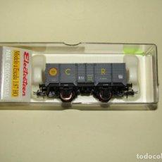 Trenes Escala: ANTIGUO VAGÓN BORDE ALTO X CON CARBÓN RENFE EN ESCALA *H0* REF. 1925 DE ELECTROTREN. Lote 246168315
