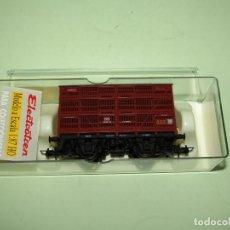 Trenes Escala: ANTIGUO VAGÓN JAULA GANADO 3 PISOS DE RENFE FGFV99659 EN ESCALA *H0* REF. 1931 DE ELECTROTREN. Lote 246217235