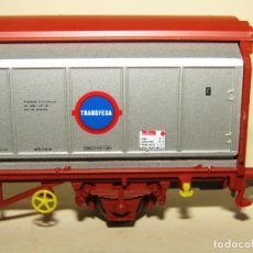 Trenes Escala: ANTIGUO VAGÓN HBIS 4 PUERTAS DESLIZANTES TRANSFESA EN ESCALA *H0* REF. 1488 DE ELECTROTREN. Lote 246333810
