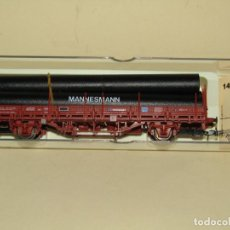 Trenes Escala: ANTIGUO VAGÓN TELEROS CON TUBOS MANNESMANN EN ESCALA *H0* REF. 1428 DE ELECTROTREN. Lote 246338675