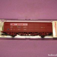 Trenes Escala: ANTIGUO VAGÓN CERRADO JPD TORO Y BETOLAZAL EN ESCALA *H0* REF. 1755K DE ELECTROTREN. Lote 246341690