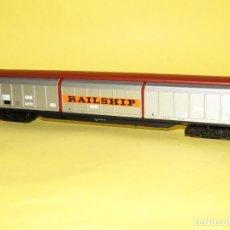 Trenes Escala: ANTIGUO VAGÓN HABIS 6 PUERTAS DESLIZANTES RAILSHIP DB EN ESCALA *H0* REF. 5523K DE ELECTROTREN. Lote 247767955
