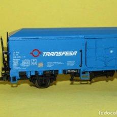 Trenes Escala: ANTIGUO VAGÓN PRODUCTOS PERECEDEROS TRANSFESA RENFE EN ESCALA *H0* REF. 1472 DE ELECTROTREN. Lote 247772665
