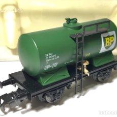 Trenes Escala: ELECTROTREN 1803 VAGÓN CISTERNA BP. Lote 250161920