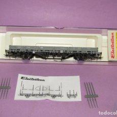 Trenes Escala: VAGÓN TELEROS KS RENFE GRIS ÉPOCA 3 EN ESCALA *H0* REF 1436K DE ELECTROTREN MADE IN SPAIN. Lote 251338020
