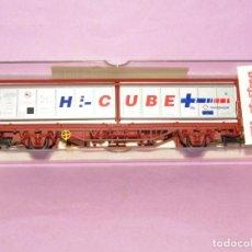 Trenes Escala: VAGÓN TIPO HABIS TRANSFESA HI-CUBE EN ESCALA *H0* REF 1490K DE ELECTROTREN MADE IN SPAIN. Lote 251338695
