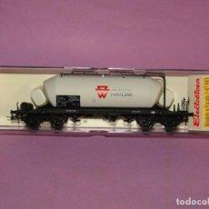Trenes Escala: VAGÓN TOLVA RENFE DE CEMENTOS PORTLAND EN ESCALA *H0* REF. 5416K DE ELECTROTREN. Lote 251368835