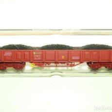 Trenes Escala: VAGÓN ABIERTO RENFE XX EALOS CON CARGA DE CARBÓN REF. 5153K ESCALA *H0* DE ELECTROTREN. Lote 251399375