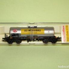 Trenes Escala: VAGÓN CISTERNA DE LA SNCF LES BECASSIERES REF. 5811K ESCALA *H0* DE ELECTROTREN. Lote 251401535