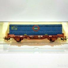 Trenes Escala: H0 VAGON PLATAFORMA LGS CON CONTENEDOR TRANSFESA. Lote 252231025