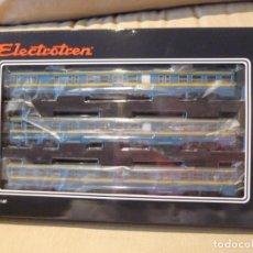 Trenes Escala: AUTOMOTOR ELÉCTRICO SERIE 440 AZUL-AMARILLO ELECTROTREN CORRIENTE CONTINUA DIGITALIZADA. Lote 253101440