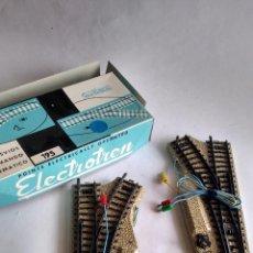 Trenes Escala: ELECTROTREN H0, CAJA DE 2 DESVÍOS, IZQUIERDA-DERECHA. NUEVOS EN CAJA. Lote 253916475