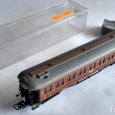 Trenes Escala: ELECTROTREN H0, VAGÓN COCHE DE PASAJEROS MZA, EN CAJA. CON LUZ .FUNCIONA. Lote 253918035