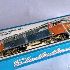 Trenes Escala: ELECTROTREN H0, LOCOMOTORA DIESEL DSB (DANESA) REF 2051, CON LUZ. FUNCIONA. EN CAJA. Lote 253918620