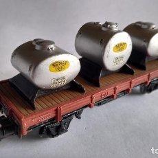 Trenes Escala: ELECTROTREN H0, VAGÓN DEPÓSITOS CISTERNAS SEMAT. Lote 253921395