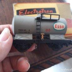 Trenes Escala: ELECTROTREN H0 ANTIGUO VAGÓN CISTERNA ESSO. Lote 254076290