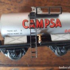 Trenes Escala: ELECTROTREN H0 ANTIGUO VAGÓN CISTERNA CAMPSA. Lote 254077250