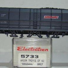 Trenes Escala: ELECTROTREN VAGON TOLVA CARBON SOGEWAG DE LA SNCF REF:5733 ESCALA H0. Lote 254989995