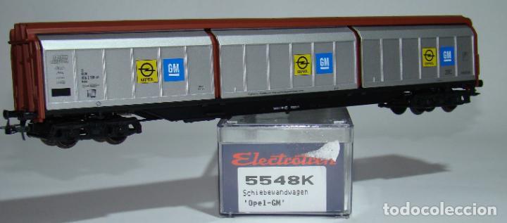 ELECTROTREN VAGON PAREDES DESLIZANTES OPEL DE LA DB REF.: 5548 ESCALA H0 (Juguetes - Trenes Escala H0 - Electrotren)