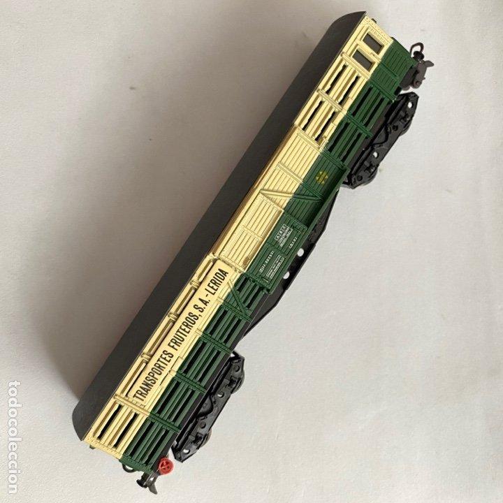 Trenes Escala: Tren vagon Electrotren Transportes fruteros s.a. Lerida ref. 5102 escala h0 - Foto 2 - 257402955