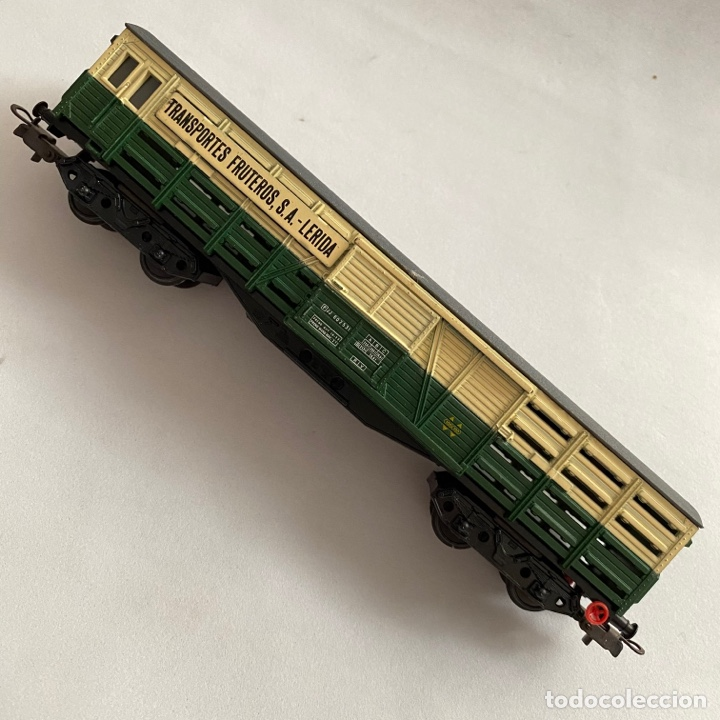 Trenes Escala: Tren vagon Electrotren Transportes fruteros s.a. Lerida ref. 5102 escala h0 - Foto 3 - 257402955