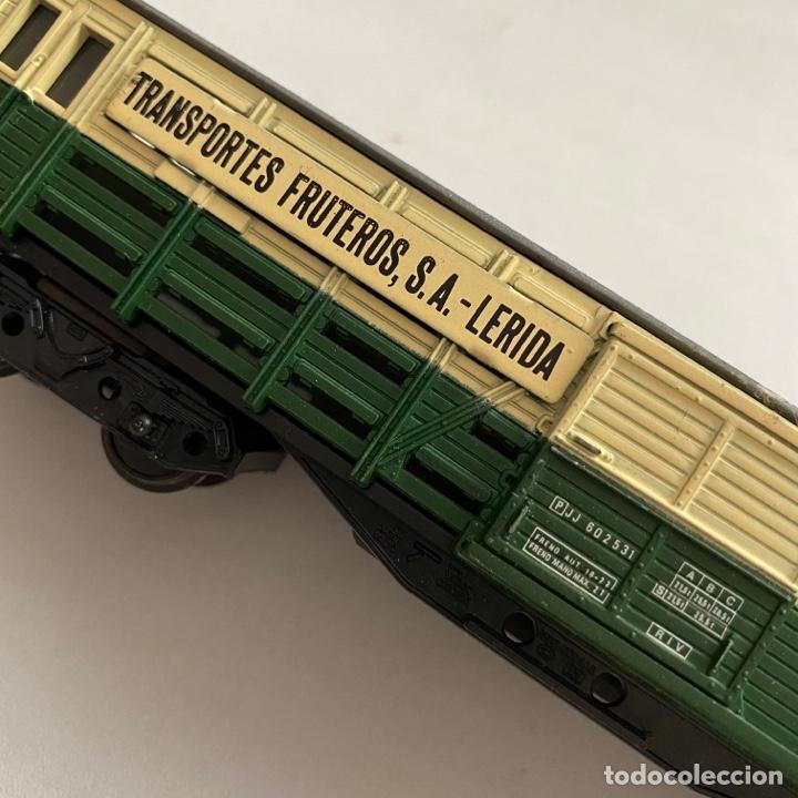 Trenes Escala: Tren vagon Electrotren Transportes fruteros s.a. Lerida ref. 5102 escala h0 - Foto 7 - 257402955