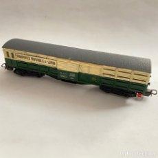 Trenes Escala: TREN VAGON ELECTROTREN TRANSPORTES FRUTEROS S.A. LERIDA REF. 5102 ESCALA H0. Lote 257402955