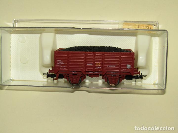Trenes Escala: Antiguo Vagón Borde Alto Elmo con Carbón de RENFE en Escala *H0* Ref. 1924 de ELECTROTREN - Foto 4 - 257493125