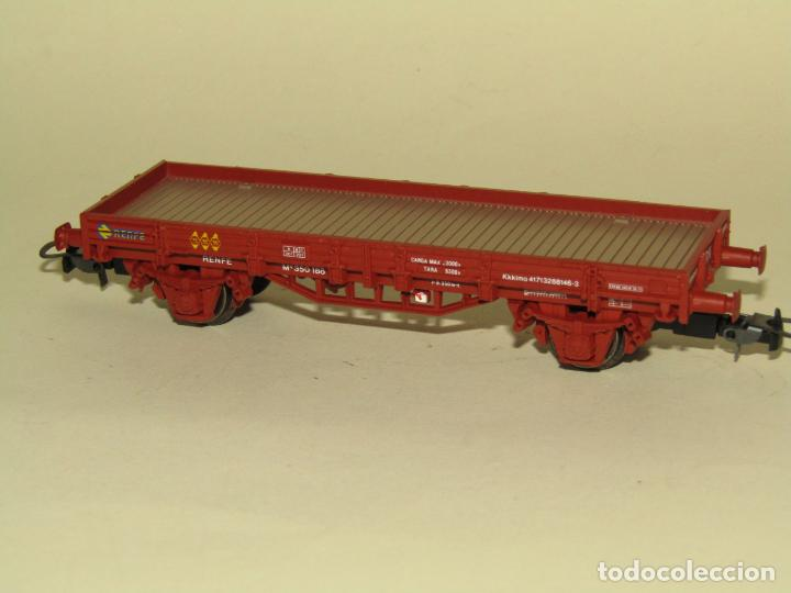 Trenes Escala: Antiguo Vagón Borde Bajo en Escala *H0* Ref. 1020 de ELECTROTREN - Foto 4 - 257520205